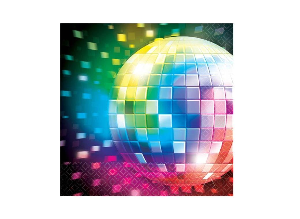 Disco Fever Beverage Napkins 16pk