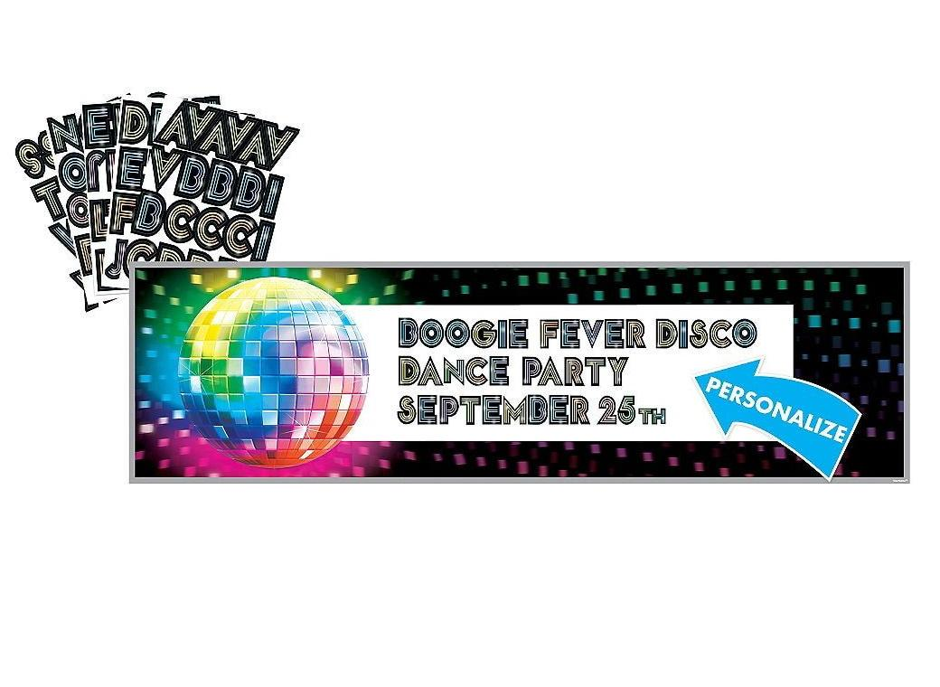 Disco Fever Customisable Banner
