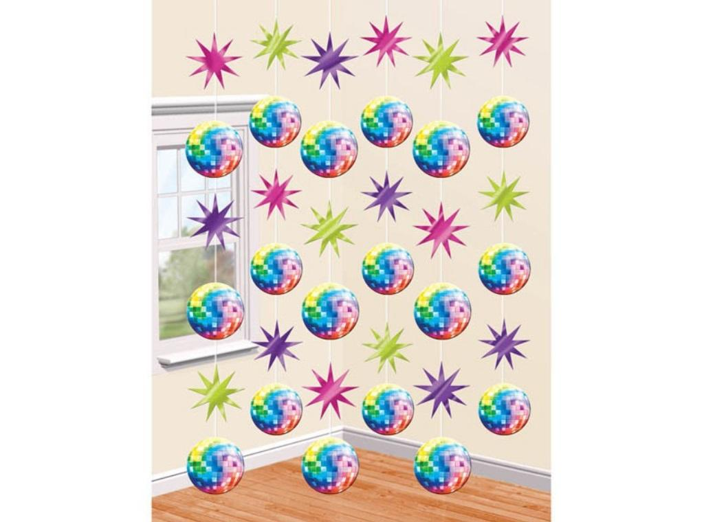 Disco Fever Hanging String Decorations