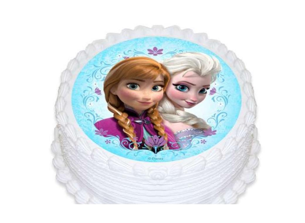 Edible Icing Image - Disney Frozen Round