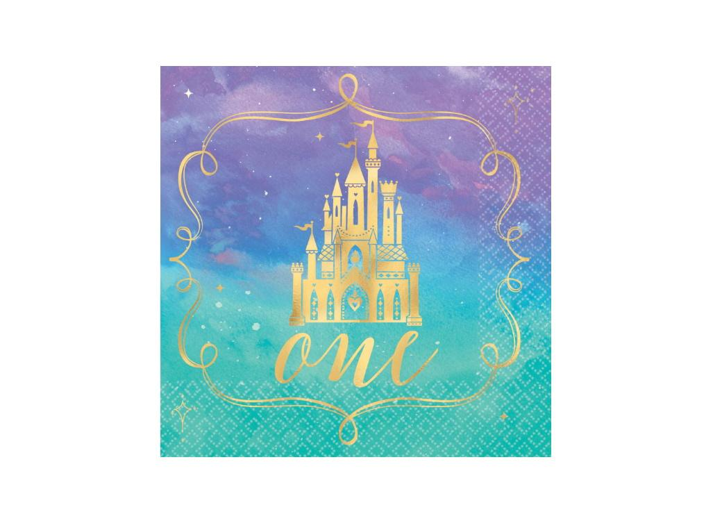 Disney Princess 1st Birthday Beverage Napkins 16pk