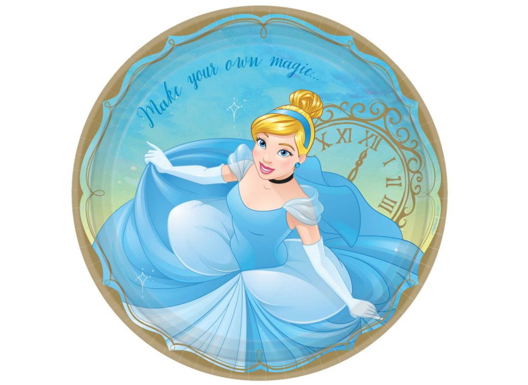 Disney Princess Cinderella Dinner Plates 8pk