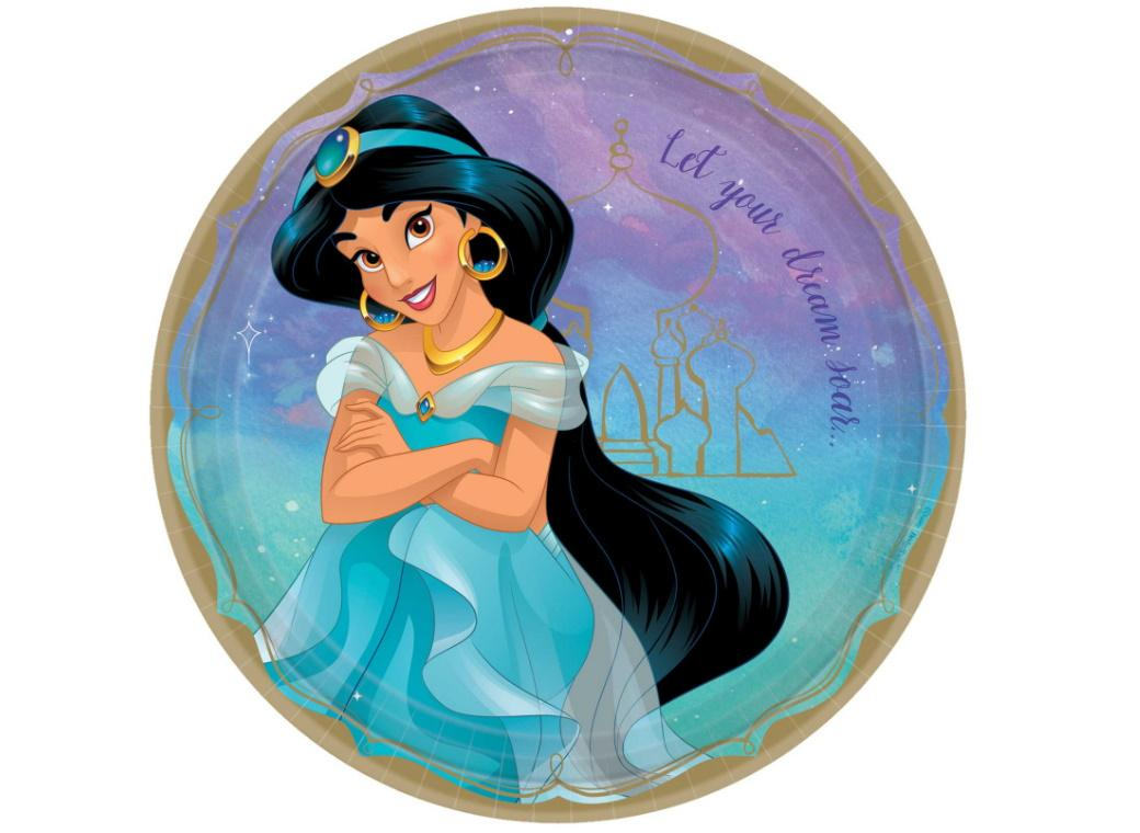 Disney Princess Jasmine Dinner Plates 8pk