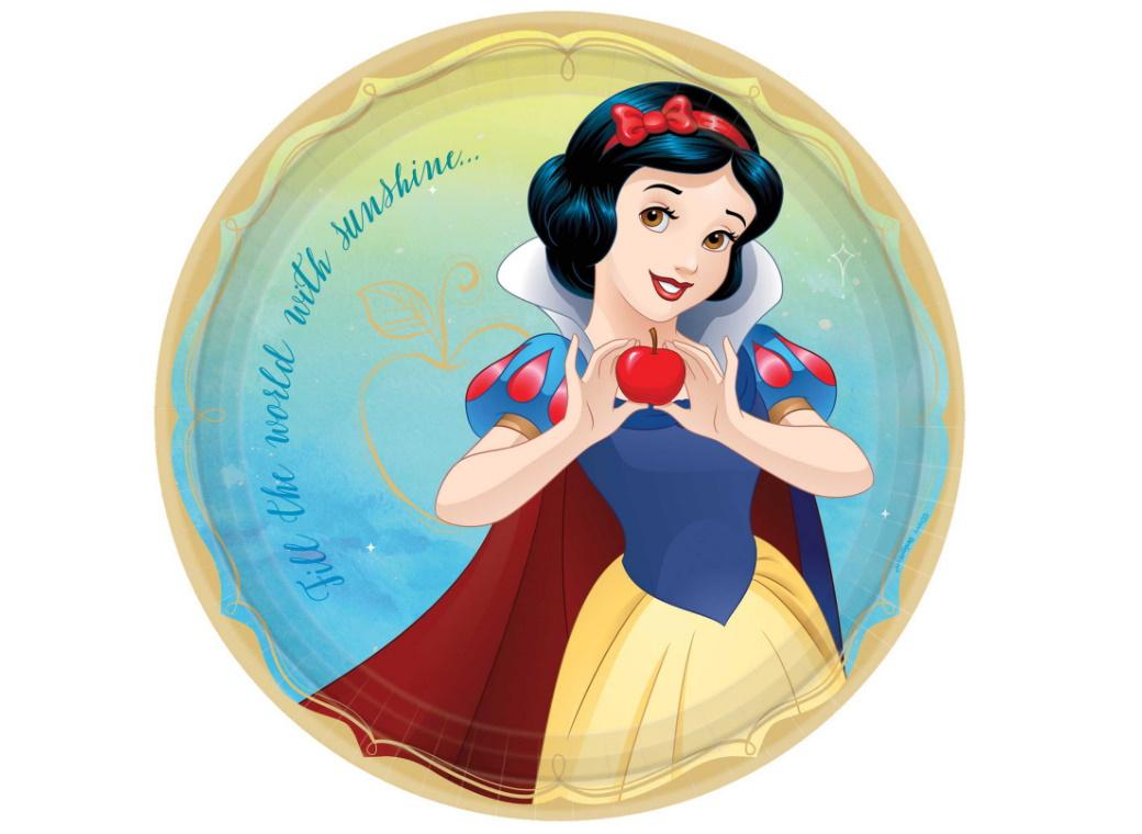 Disney Princess Snow White Dinner Plates 8pk