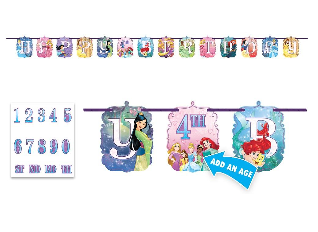 Disney Princess Add An Age Banner