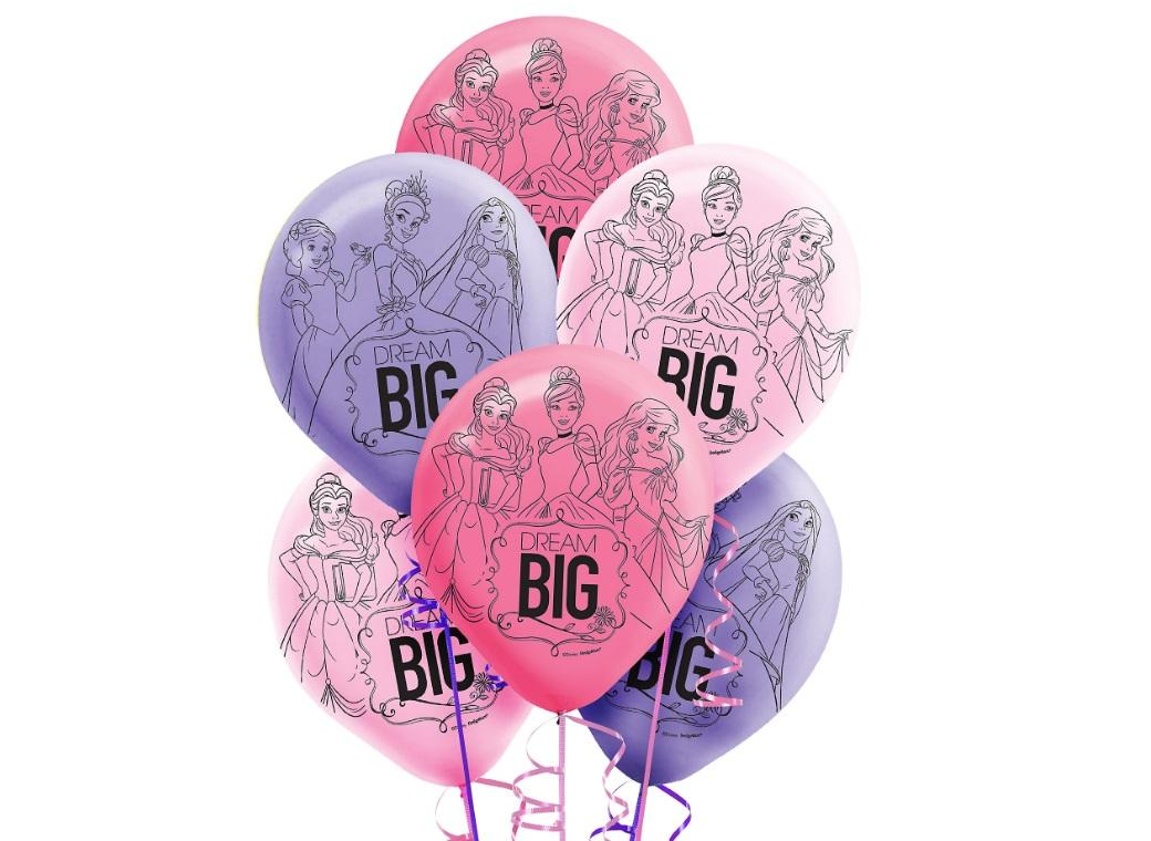Disney Princess Dream Big Balloons 6pk