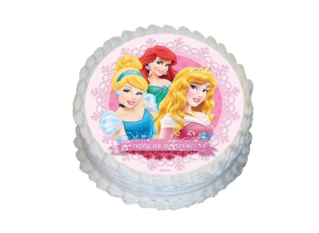 Edible Icing Image - Disney Princess Round