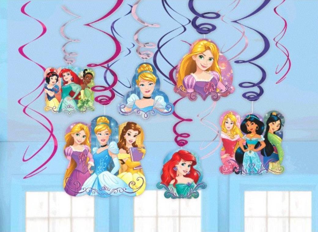 Disney Princess - Hanging Swirl Decorations