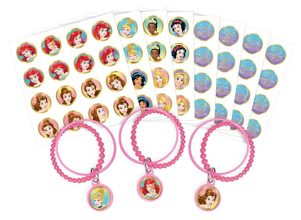 Disney Princess Once Upon A Time Bracelets 8pk