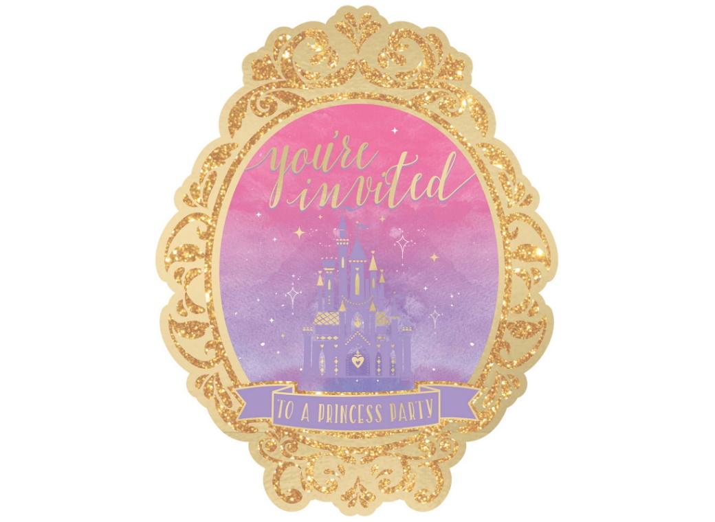 Disney Princess Deluxe Invitations 8pk