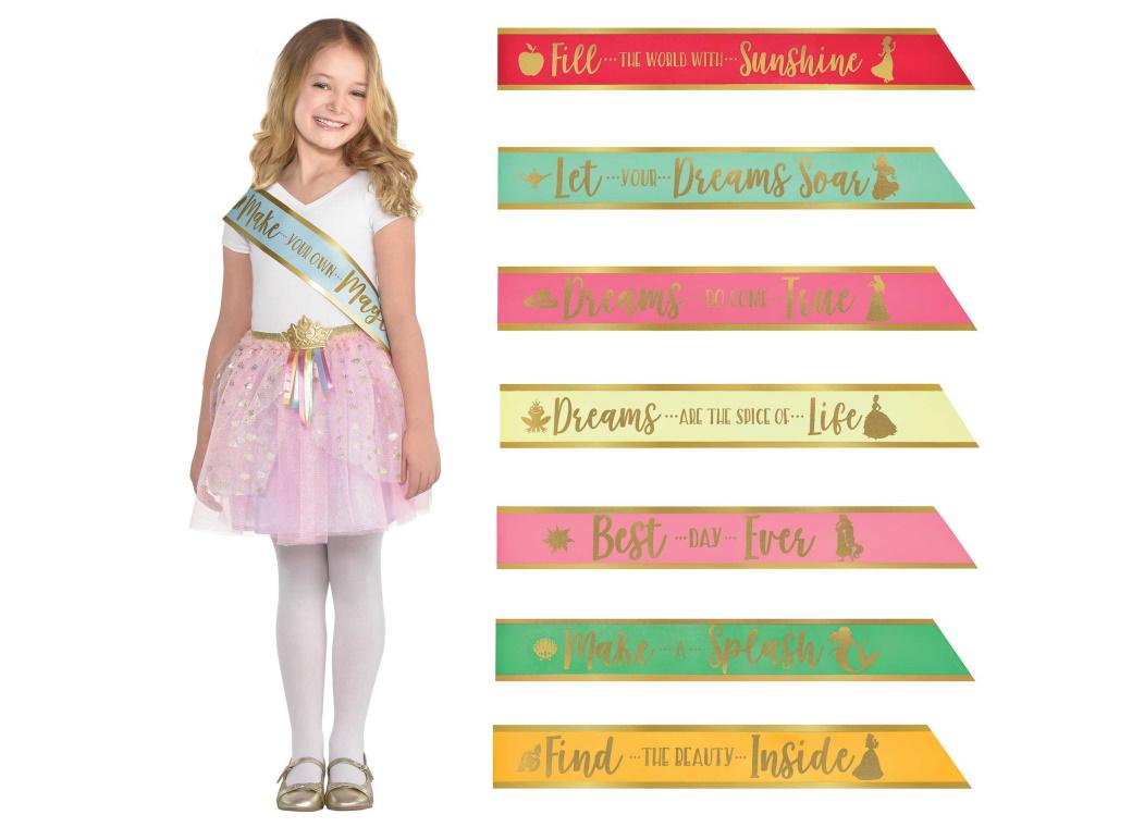 Disney Princess Once Upon A Time Sashes 8pk