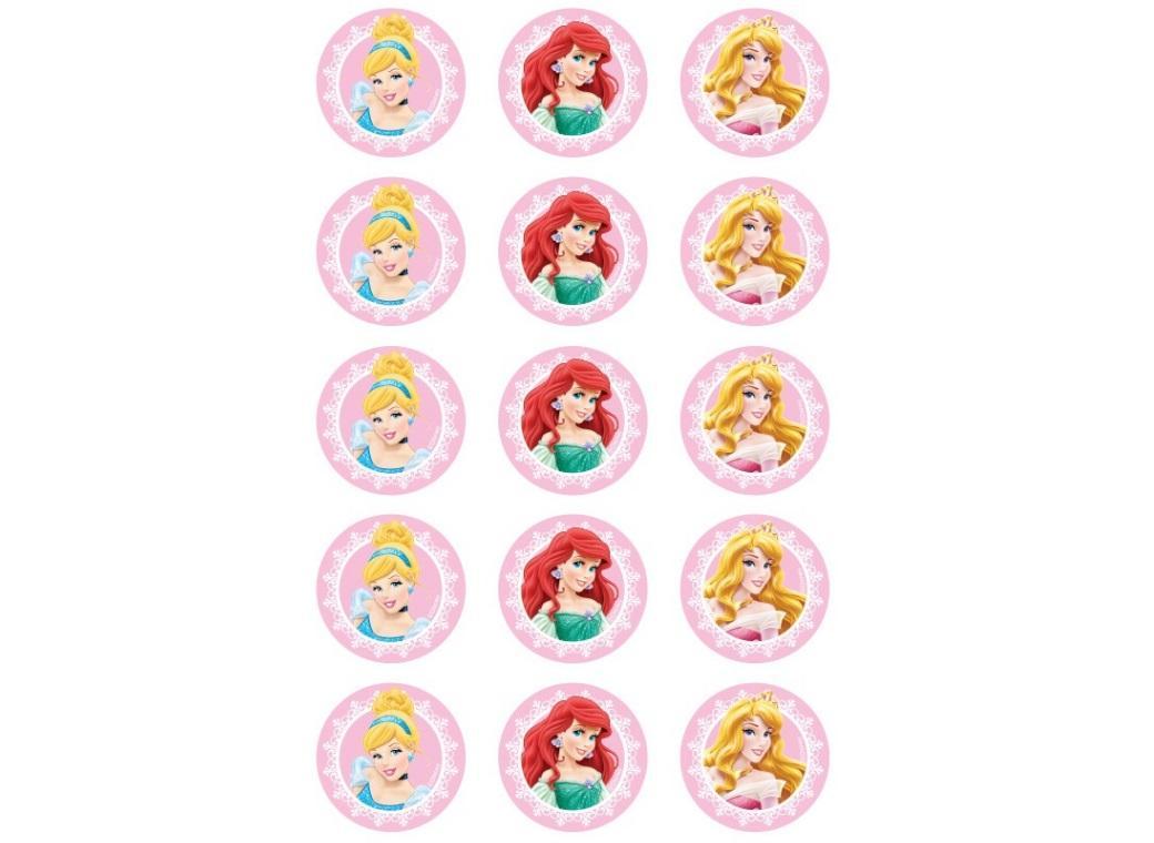 Edible Icing Cupcake Images - Disney Princess