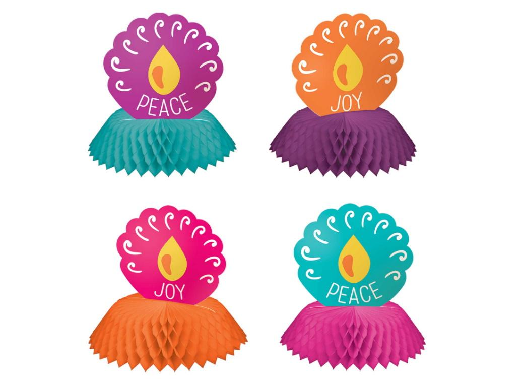 Diwali Mini Honeycomb Centrepieces 4pk
