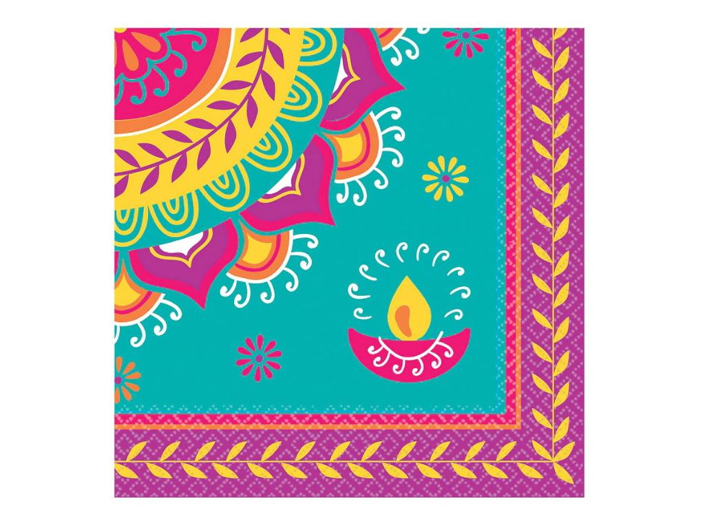 Diwali Lunch Napkins 16pk