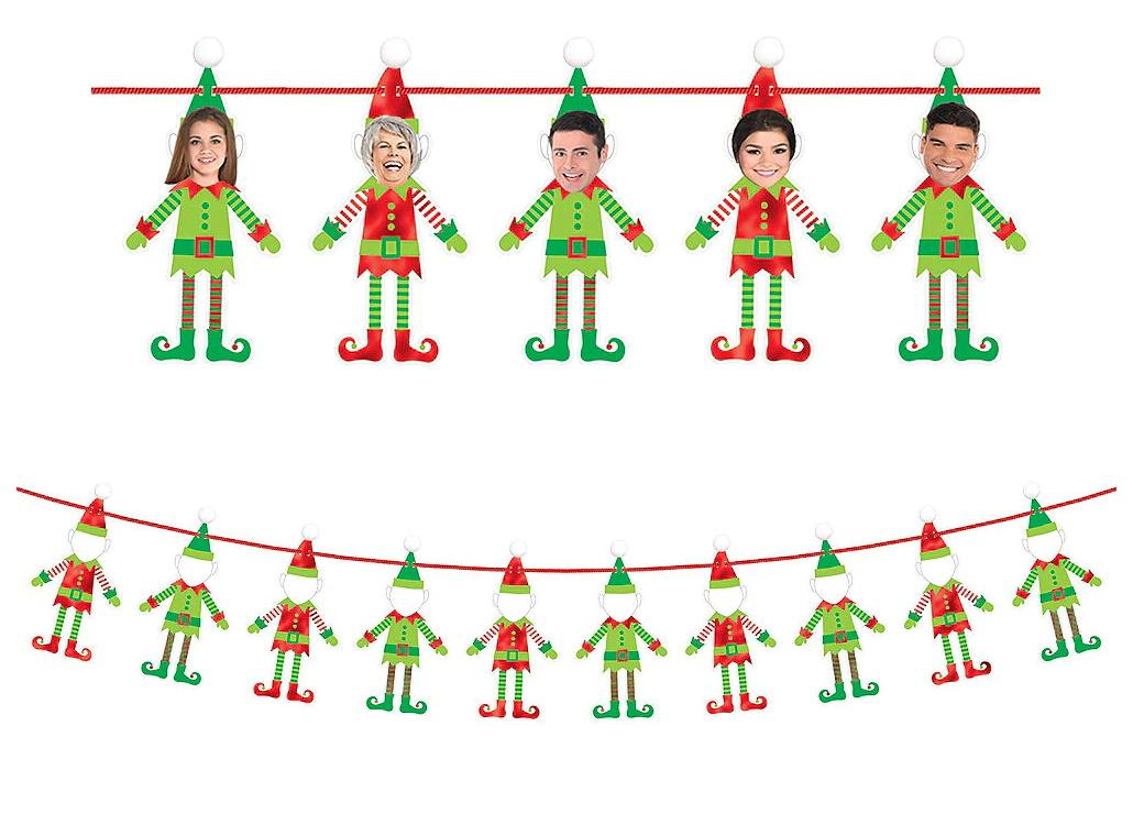 DIY Elf Photo Garland