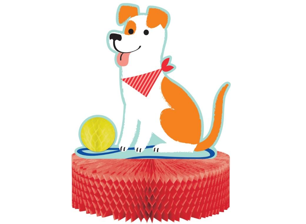 Dog Party Honeycomb Table Centrepiece