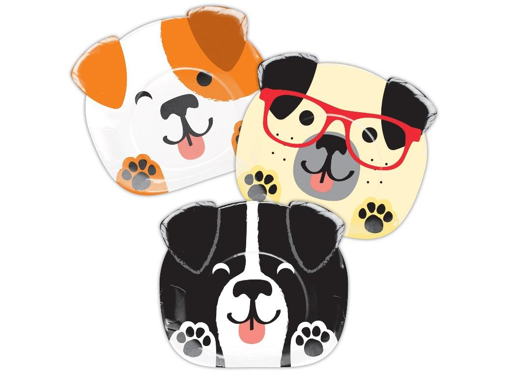 Dog Party Shaped Plates 8pk