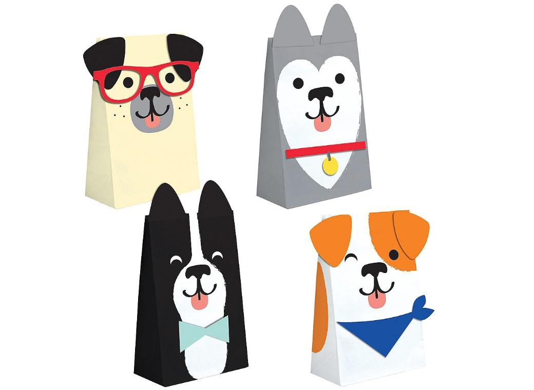 Dog Party Paper Treat Bags 8pk