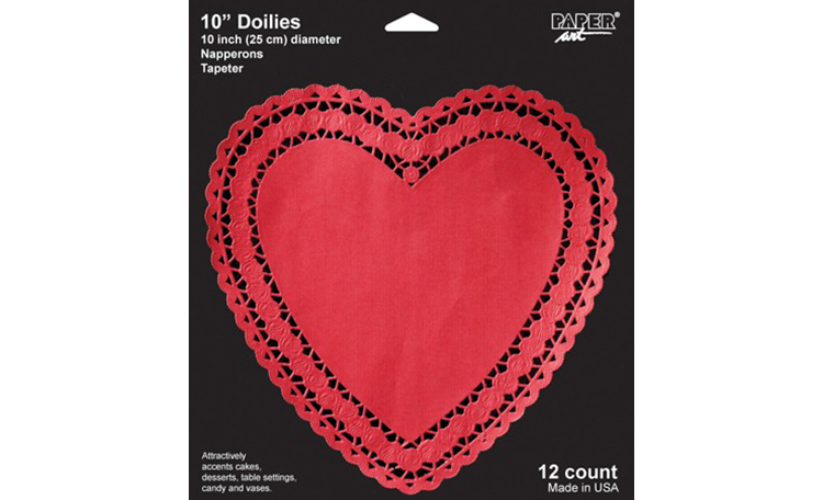 "Red Heart Paper Doily - 10"" - 12pk"
