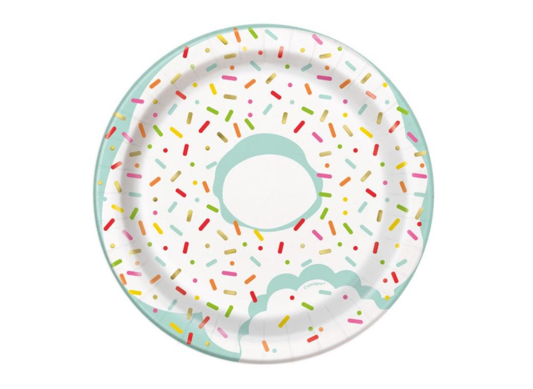 Donut Party Lunch Plates 8pk