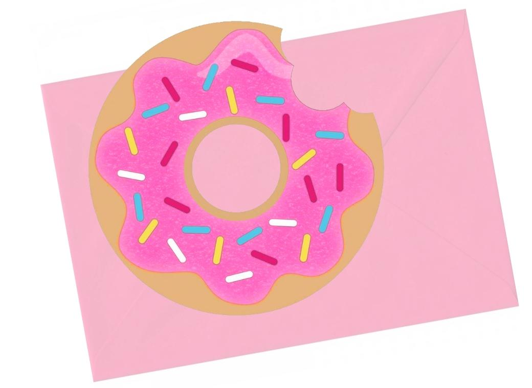 Donut Time Invites 8pk