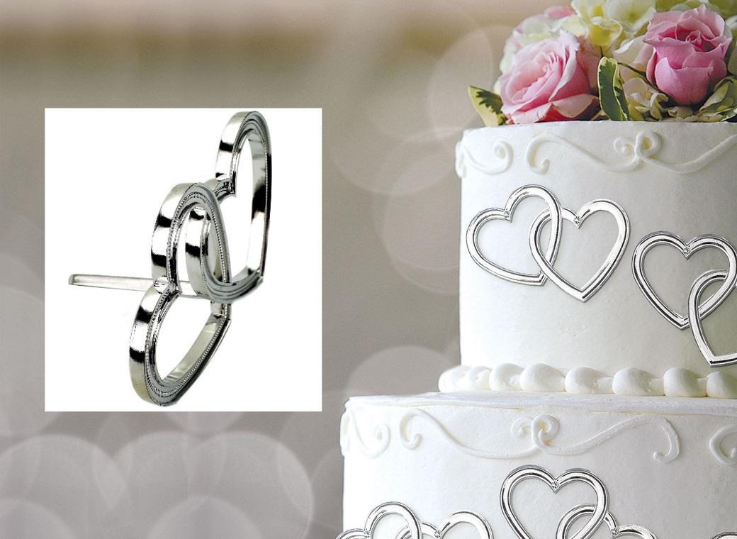 Double Heart Cake Decorations 12pk