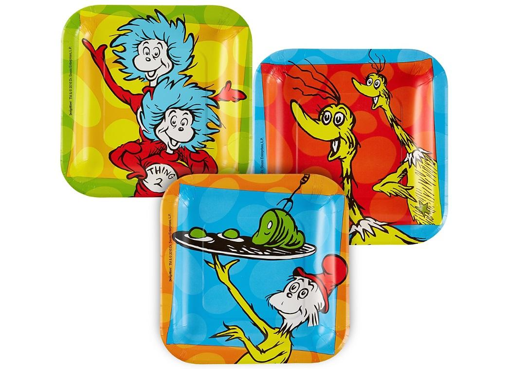 Dr Seuss Lunch Plates 8pk