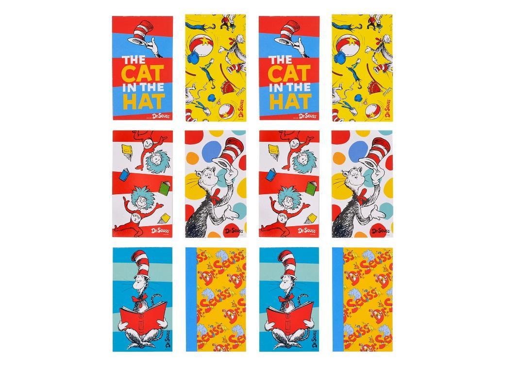 Dr Seuss Mini Notepad Favours 12pk