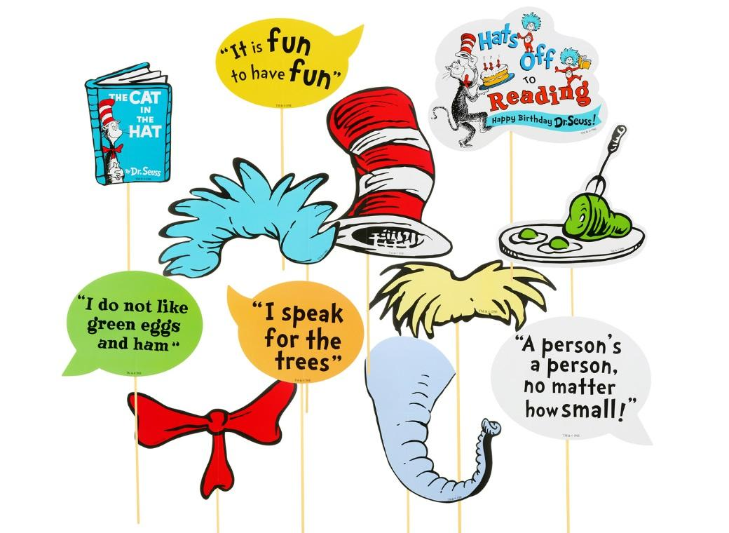 Dr Seuss Photo Booth Kit