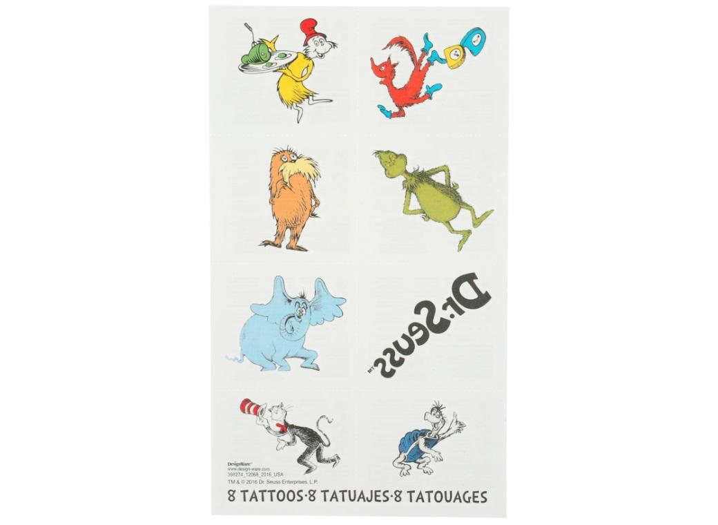 Dr Seuss Temporary Tattoos
