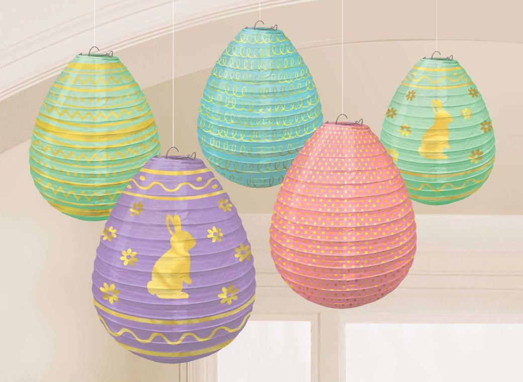 Easter Egg Mini Paper Lanterns 5pk