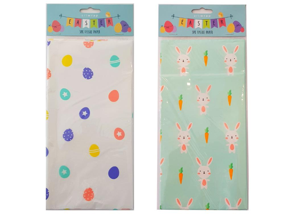 Easter Printed Tissue Paper 3pk
