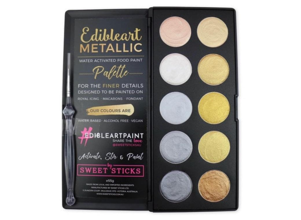 Edible Art Paint - Metallic 10 Pan Palette