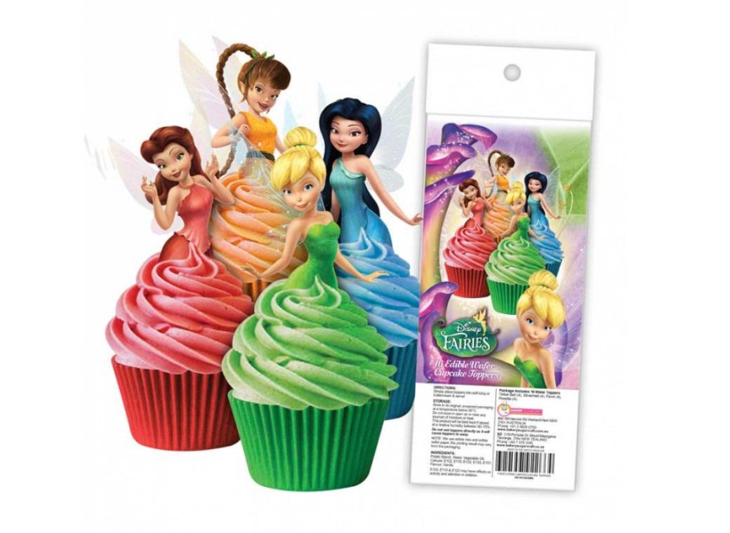 Edible Wafer Cupcake Toppers - Disney Fairies