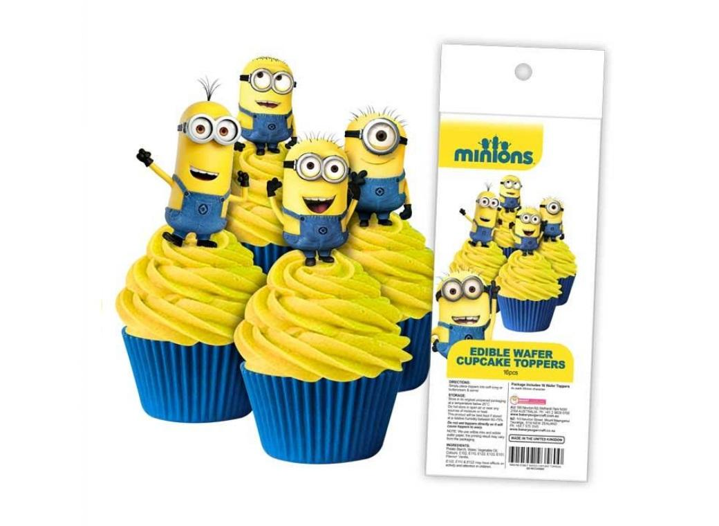 Edible Wafer Cupcake Toppers - Minions