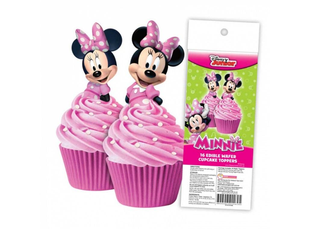 Edible Wafer Cupcake Toppers - Minnie Mouse