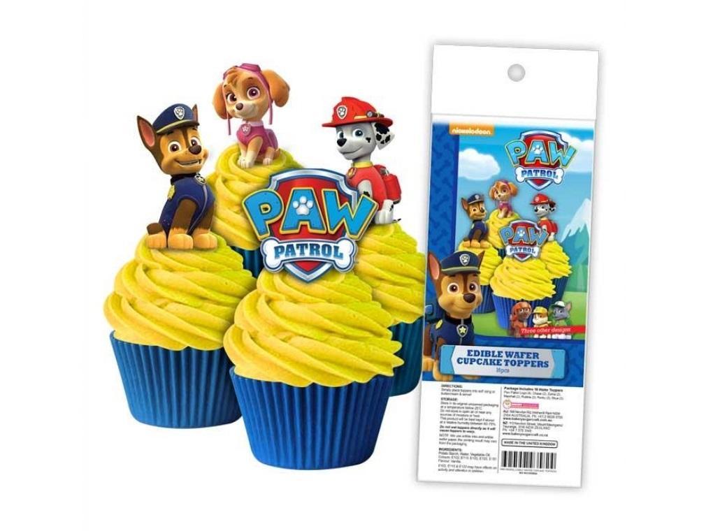 Edible Wafer Cupcake Toppers - Paw Patrol