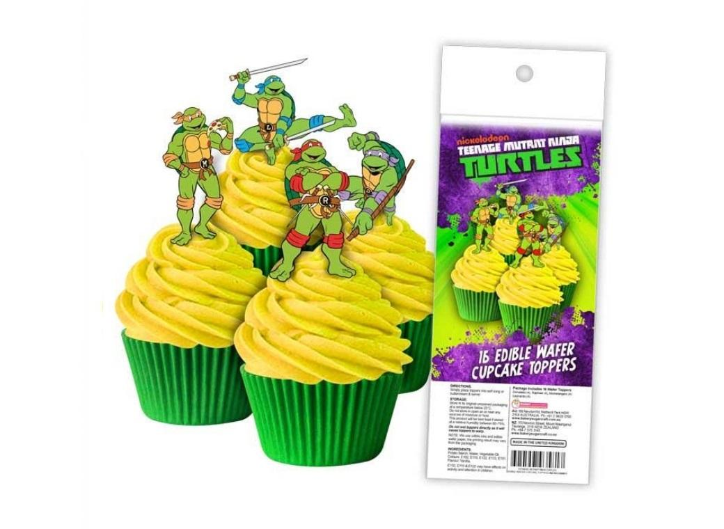 Edible Wafer Cupcake Toppers - TMNT