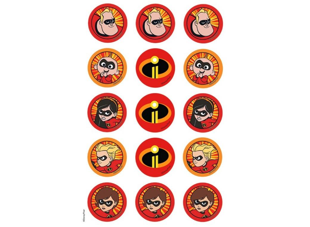 Edible Icing Cupcake Images - Incredibles