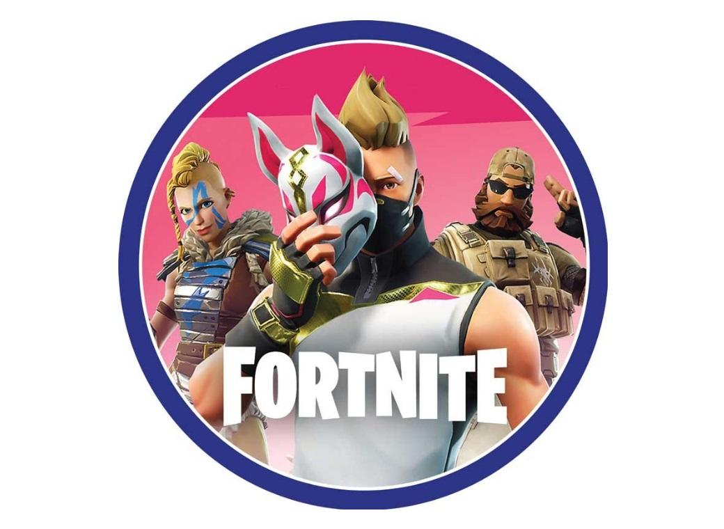 Edible Icing Image - Fortnite Round