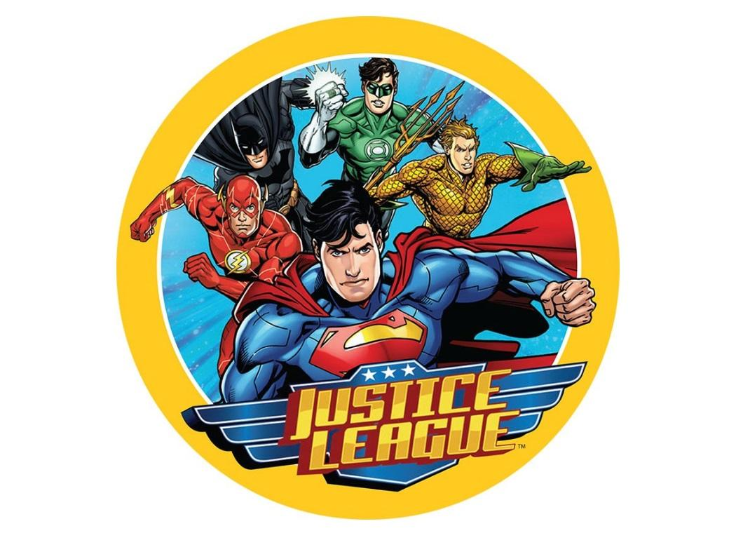Edible Icing Image - Justice League Round
