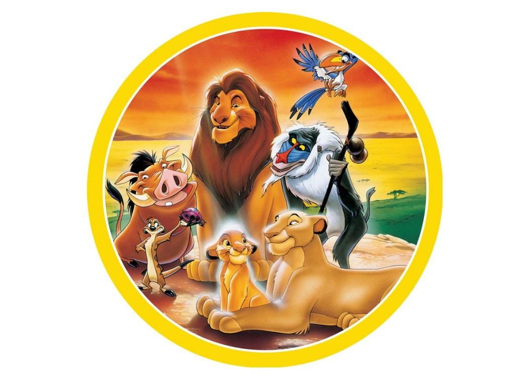 Edible Icing Image - The Lion King Round