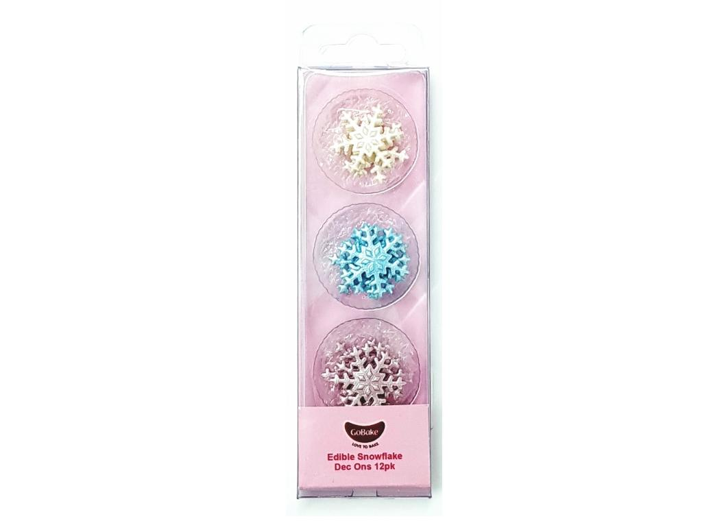 GoBake Dec Ons Novelty Snowflakes - 12pk