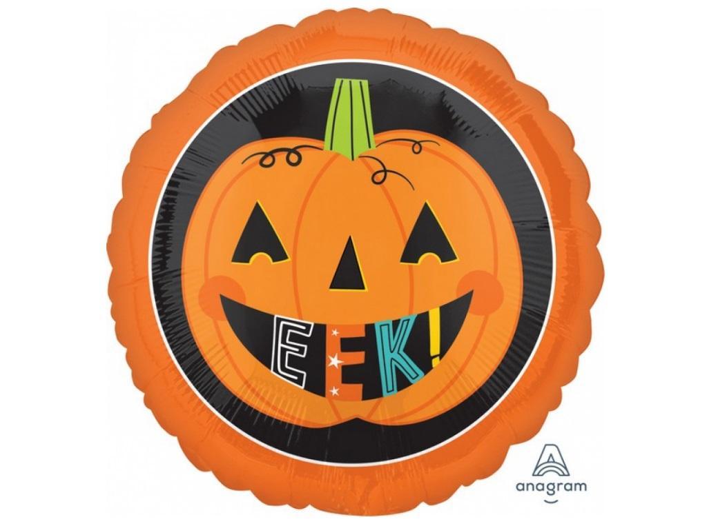 Eek Pumpkin Foil Balloon
