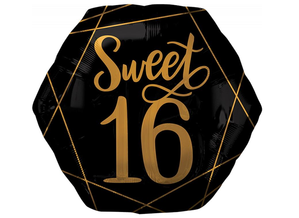 Elegant Sweet Sixteen SuperShape Foil Balloon