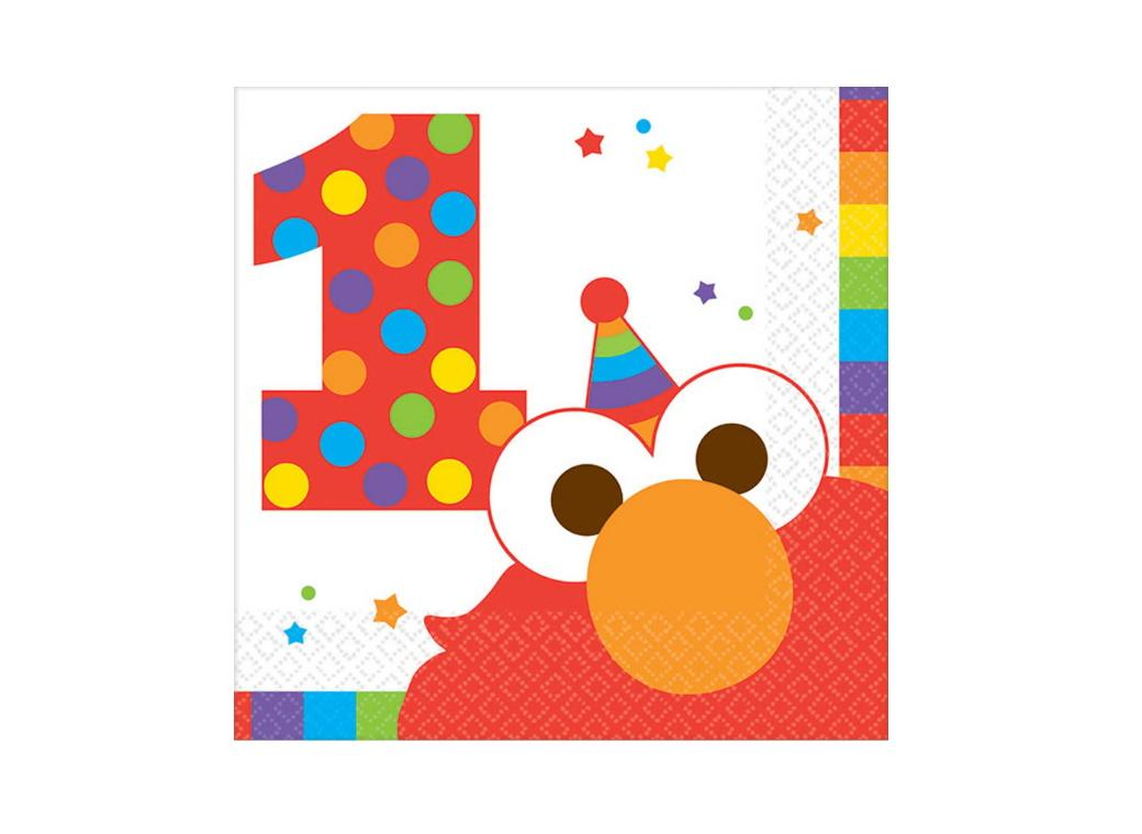 Elmo Turns One Beverage Napkins 16pk