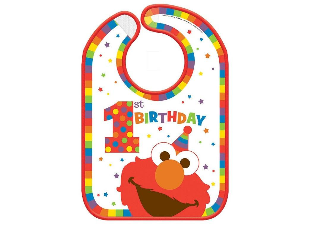 Elmo Turns One Bib
