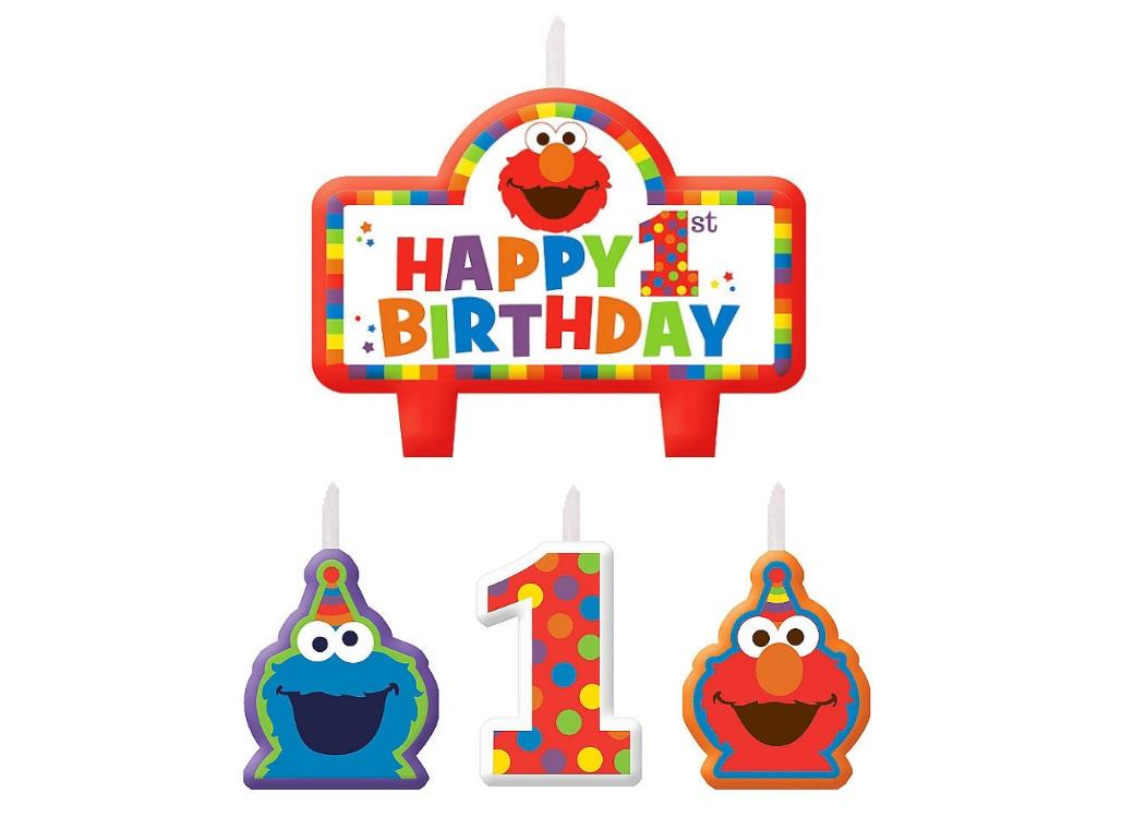 Elmo Turns One Candle Set