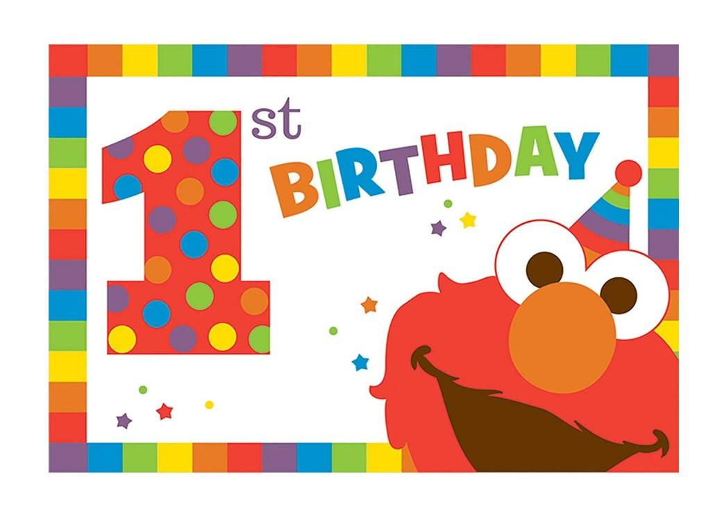 Elmo Turns One Invitations 8pk