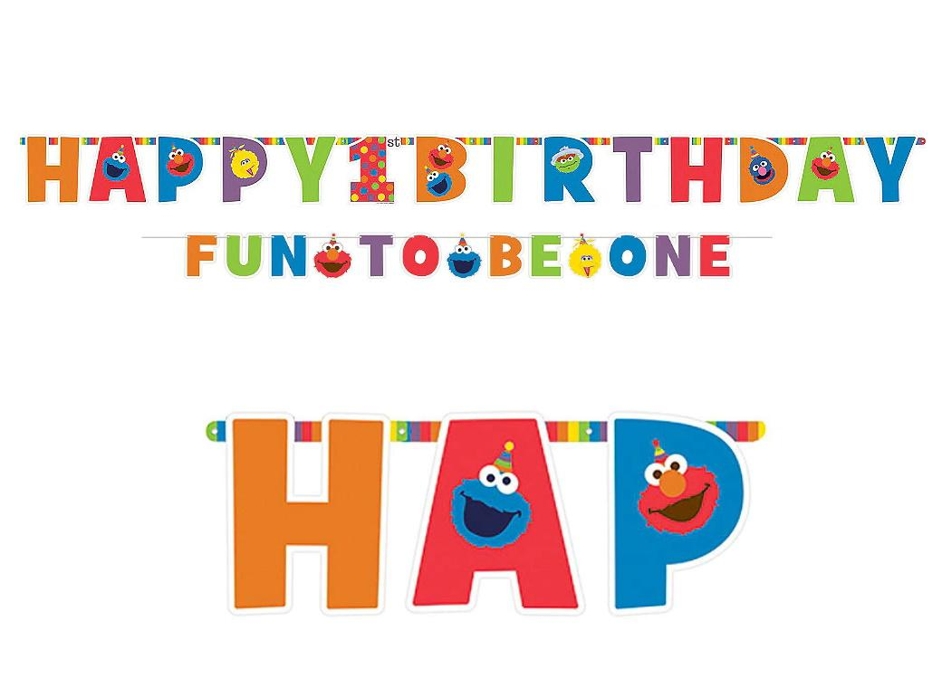 Elmo Turns One Letter Banner Kit